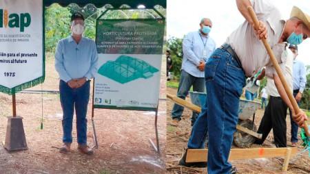 Colocan primera piedra del Proy. Internacional Horticultura Protegida